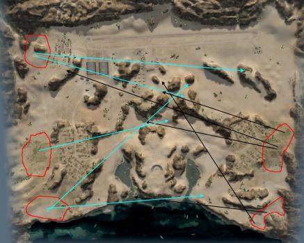 Аэродром, тактика боя для САУ