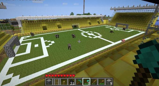 Футбол в МайнКрафт