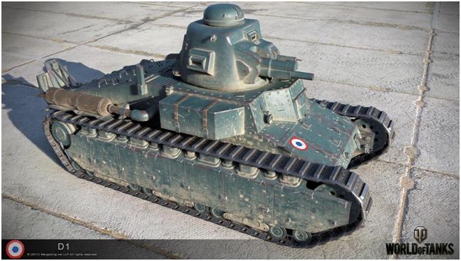 легкий танк второго уровня D1