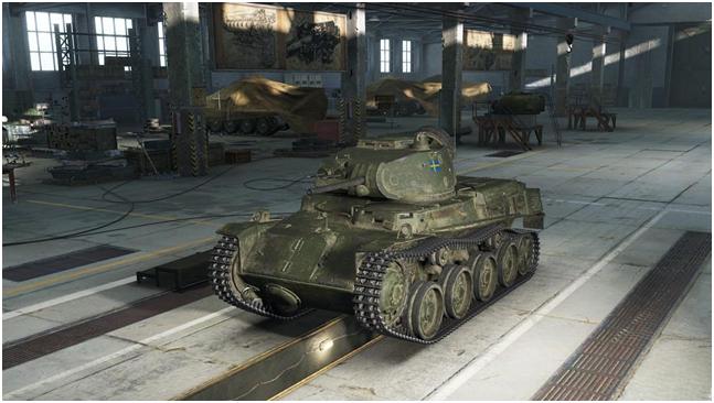 легкий танк третьего уровня Strv m/40L