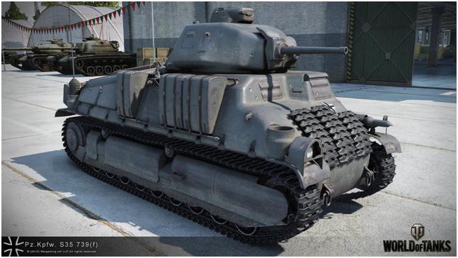 премиумный средний танк третьего уровня Pz.Kpfw. S35 739 (f)