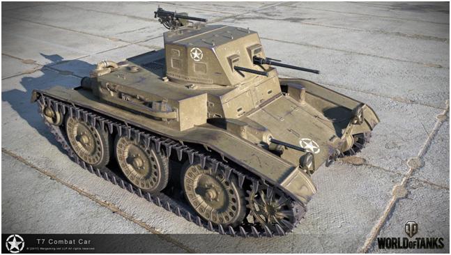 легкий танк второго уровня T7 Combat Car
